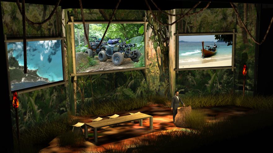 3d Set Design Lighting And Photorealistic Room Rendering